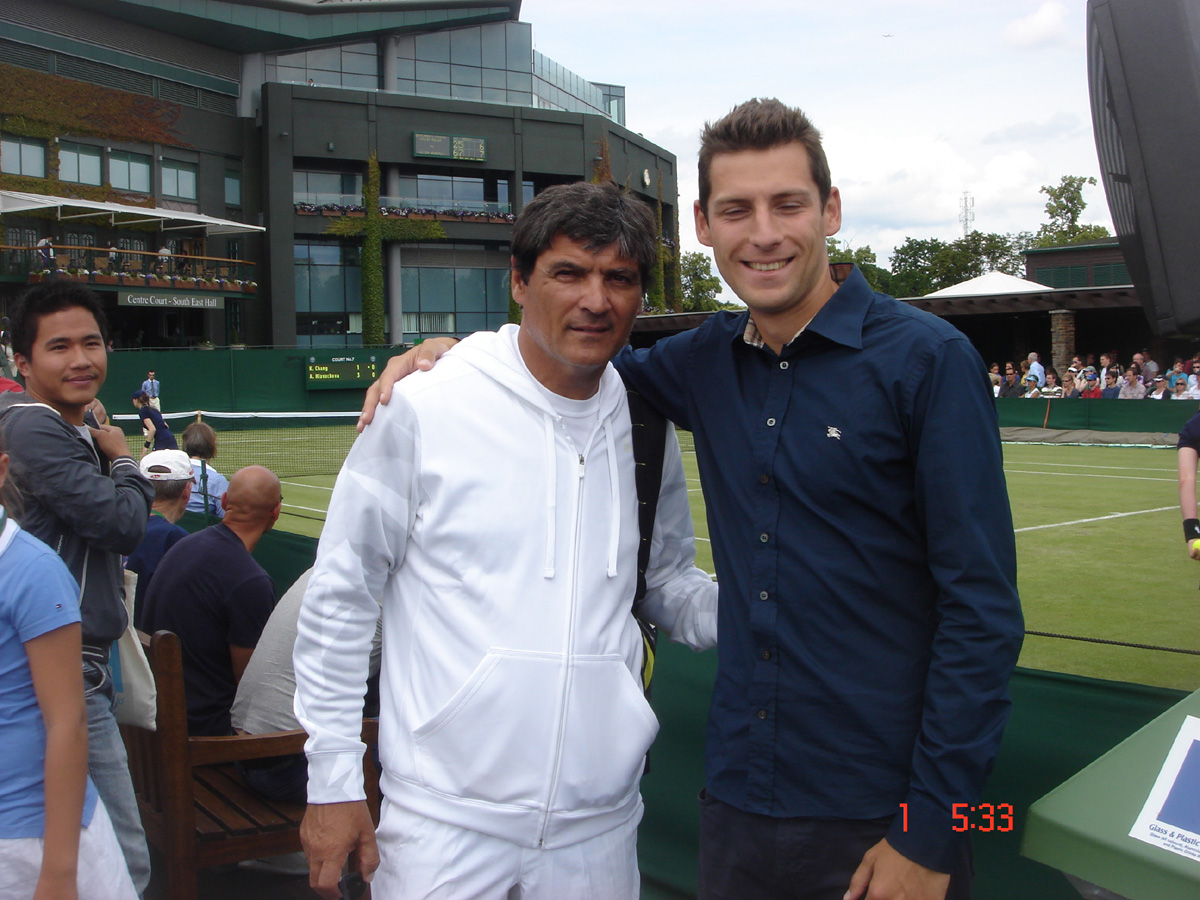 Our coach SLawek with Nadal's uncle